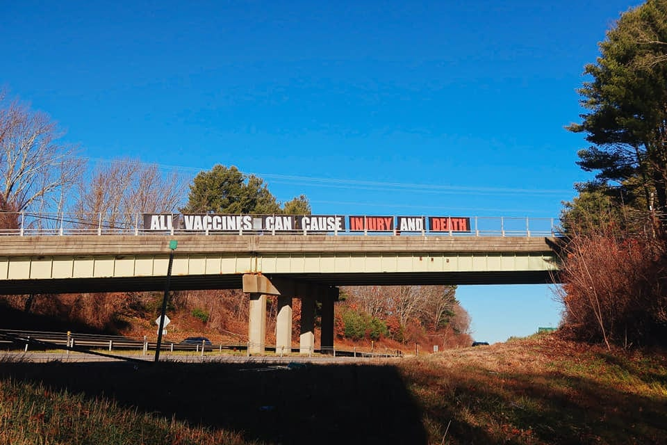 """""""V is for Vaccine"""" Demonstration Held Throughout Connecticut On Sunday 11.29.20"""