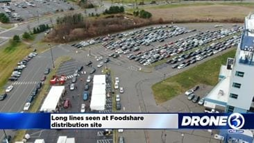Long Lines At Foodshare Distribution Sites